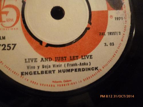 vinilo single de engelbert humperdinck - live and  ( b90