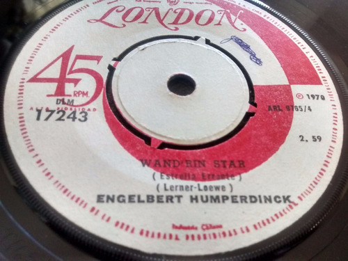 vinilo single de engelbert humperdinck -wand rin s ( e96