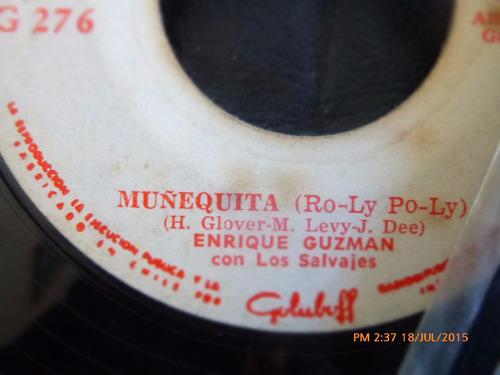 vinilo single de enrique guzman -- muñequita ( r120