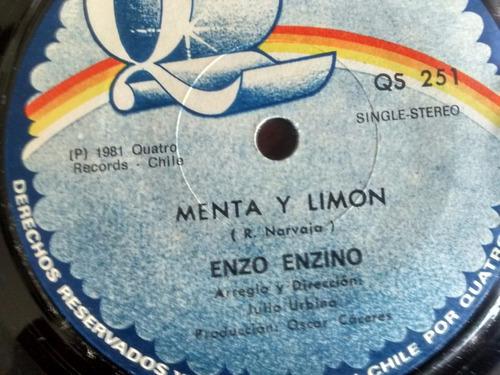 vinilo single de enzo enzino - menta y limon ( q65