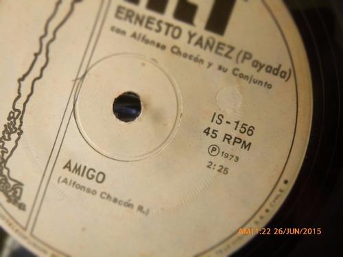 vinilo single de ernesto yanez -- amor de espino -( n125