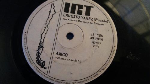 vinilo single de ernesto yanez amor de espino(o-70