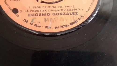 vinilo single de eugenio gonzalez --flor de mina ( u63
