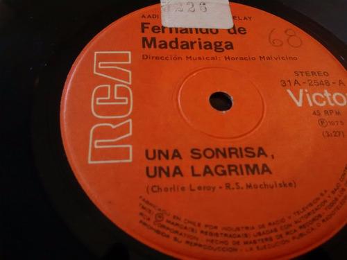 vinilo single de fernando madariaga -cuando la hierba ( t11