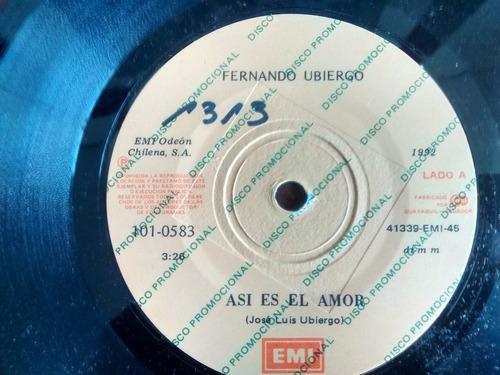 vinilo single de fernando ubiergo - asi es el amor ( p44