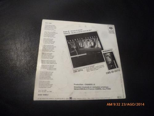 vinilo single de francis cabrel  -- encore et encore ( h43