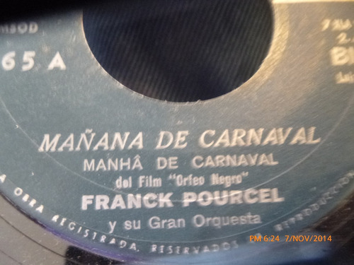 vinilo single de frank pourcel --mañana de carnaval(a352