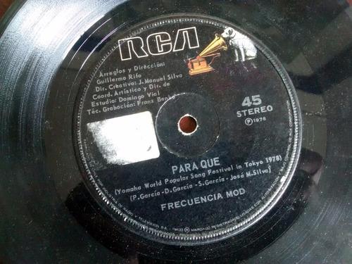vinilo single de frecuencia modulada - todo pudo ser( p51