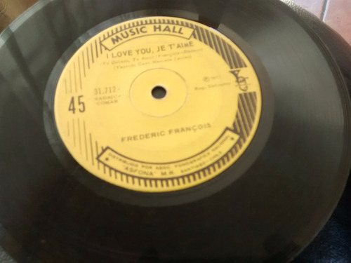 vinilo single de  frederic francois - i love you , je ( t117