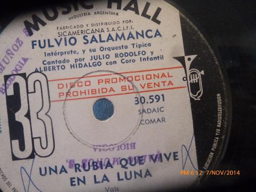 vinilo single de fulvio salamanca herrerro sentimenta ( i118
