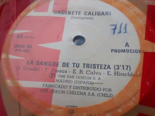 vinilo single de gabinete caligari - la sangre de ( t45