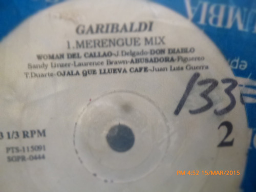 vinilo single de garibaldi - i merengue mix ( c129