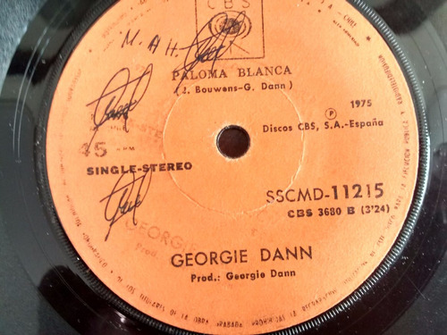 vinilo  single de georgie dann - paloma blanca ( q114