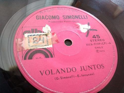 vinilo single de giacomo simonelli - volare in due( t43