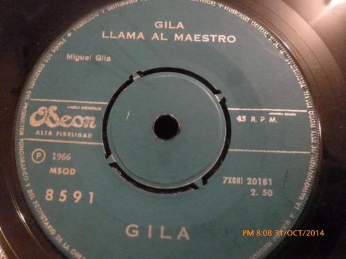 vinilo single de gila -- gila llama al maestro ( b54