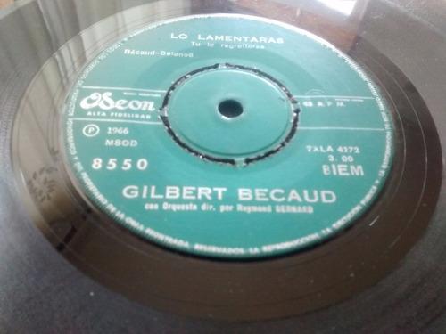 vinilo single de gilbert becaud -cuando el poeta mu ( q118
