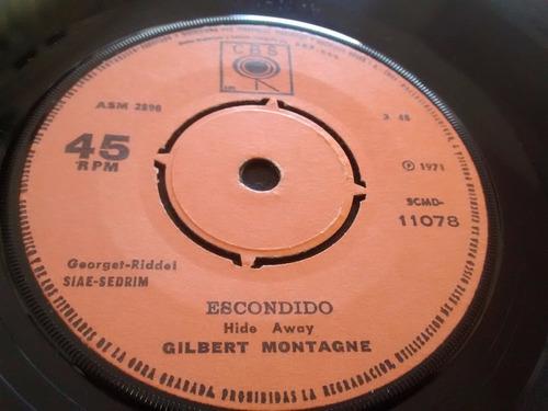 vinilo single de gilbert - montagne - el tonto ( e60 - e109