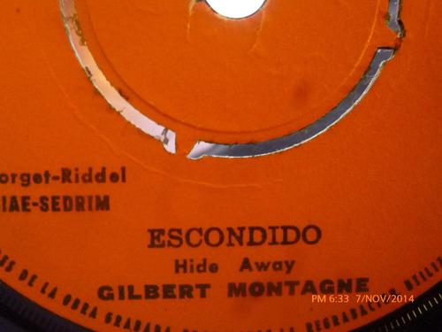 vinilo single de gilbert montagne --escondido( s110