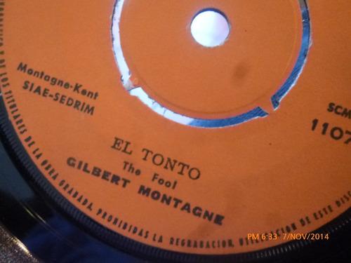 vinilo single de gilbert montagne --escondido( s99