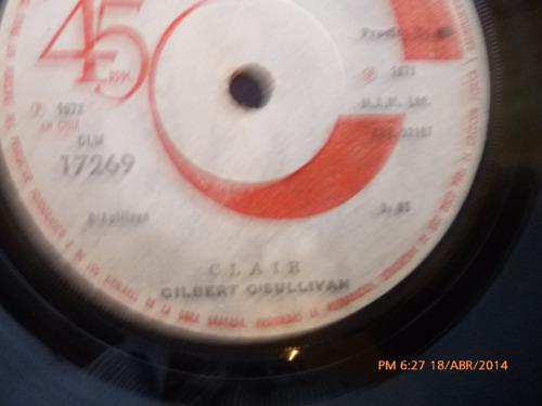 vinilo single de gilbert o'sullivan   ///  clair ( b113