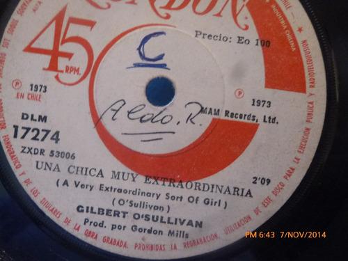 vinilo single de gilbert o'sullivan - una chica muy ( a84