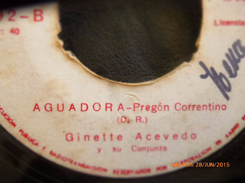 vinilo single de ginette acevedo -- no quiero ser   ( n97