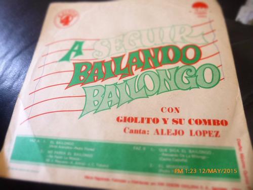 vinilo single de  giolito y su combo  a seguir bailand( h150