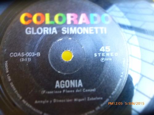 vinilo single de gloria simonetti -- como lo hare  --( q54