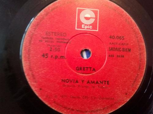 vinilo single de gretta - novia y amante ( r108