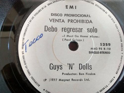 vinilo single de guys 'n' dolls - hagamos el amor ( i91