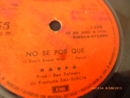vinilo single de harpo -- no se por que (q30