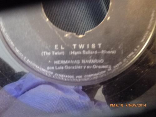 vinilo single de hermanas navarro -- twist del perico( v20