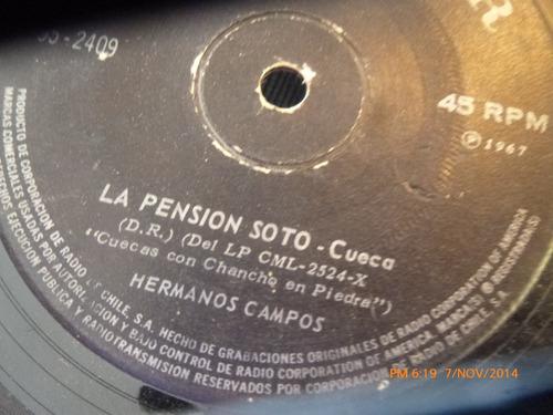 vinilo single  de hermanos campos -- la pension de soto( v15