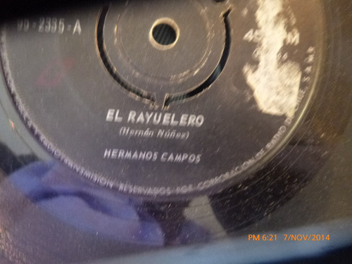 vinilo single  de hermanos campos -- los bolseros  -( v10