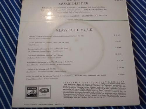 vinilo single de hugo wolf - dietrich fisch( k98