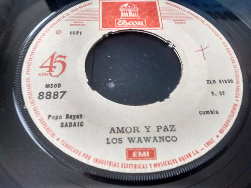 vinilo  single de ios wawanco  josefina  ( c99