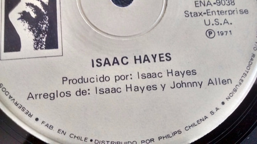 vinilo single de isaac hayes --cafe regio's( u146