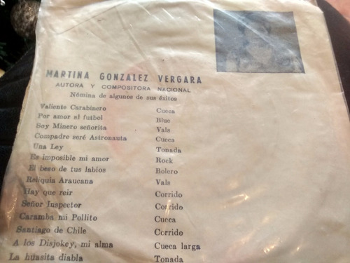 vinilo single de isabel ramirez -la huasita diabla ( c2