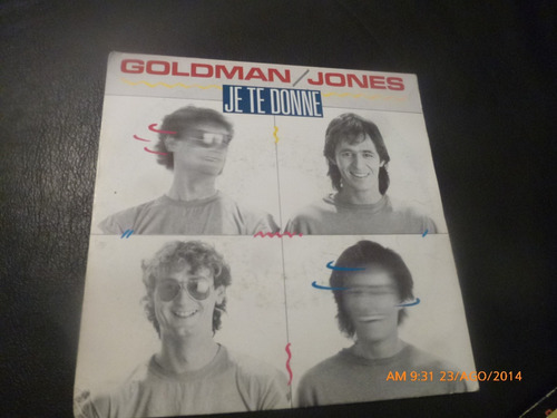 vinilo single de jan jacques goldman -- je te donne ( h37