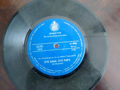 vinilo single de jeanette - oye mama oye papa   ( q85