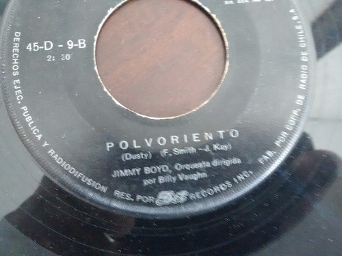 vinilo single de jimmy boyd - polvoriento   ( e49