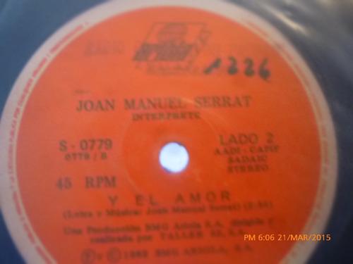 vinilo single de - joan manuel serrat -y el amor ( a59