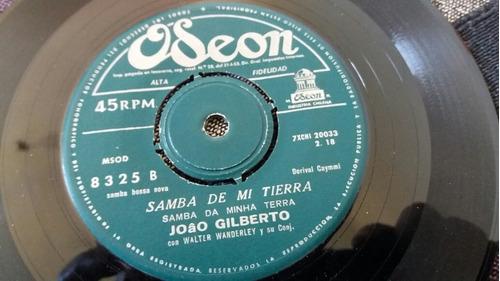 vinilo single de joao gilberto el barquito  (o-28