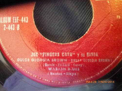 vinilo single de  joe fingers carr -dragones canadiens( s108