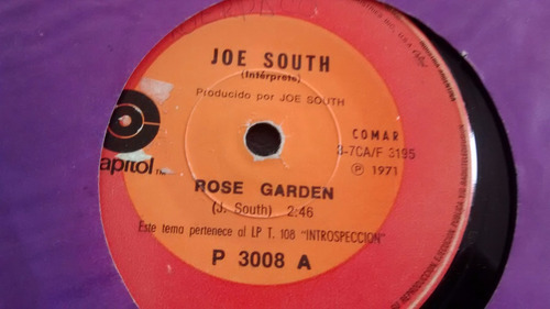 vinilo single de joe south - rose garden ( u115