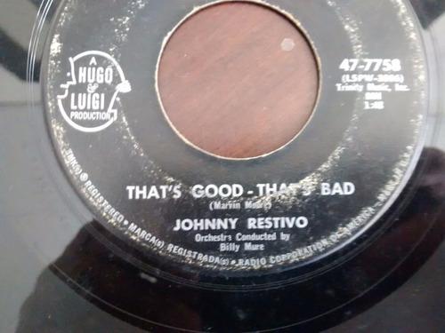 vinilo single de johnny restivo -  i can't  take it ( e46