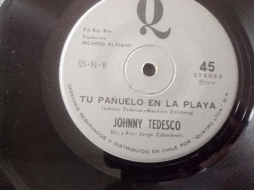 vinilo single de johnny tedesco - barrilito de cerves (a2184