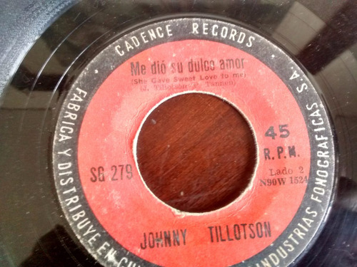 vinilo single de johnny tillotson - me dio su dulce ( t61