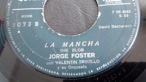 vinilo single  de jorge foster  --la mancha  ( c14