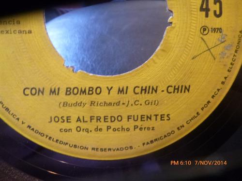 vinilo single de jose alfredo fuentes -mi combo y mi c( i135